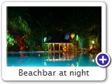 Beachbar at night
